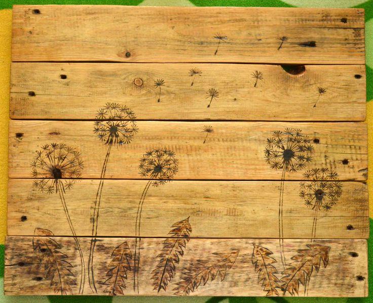 vypalované na dřevo ze staré palety