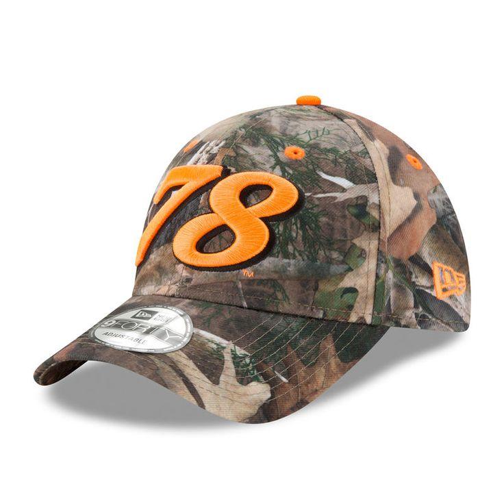 Martin Truex Jr New Era All Over Camo 9FORTY Adjustable Hat - Camo/Orange