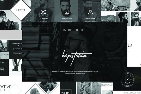 Hipsteria Business Powerpoint by onestudio on @creativemarket