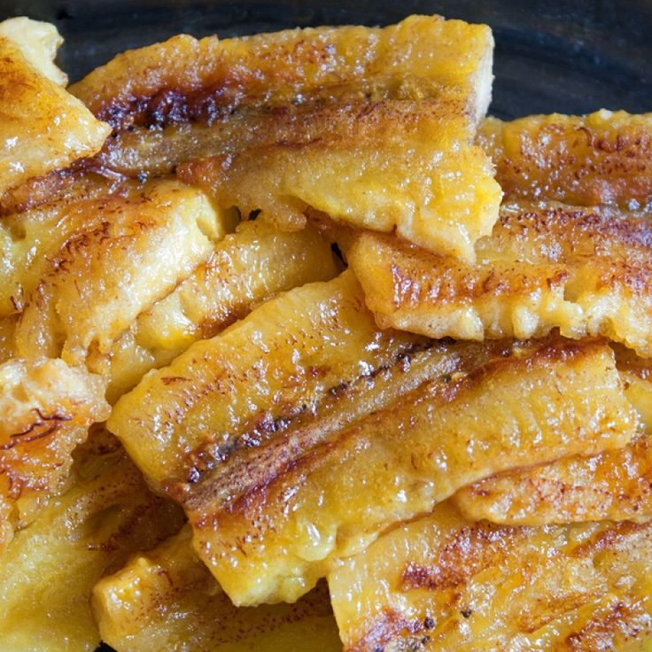 This fried banana recipe is flavored with a slight hint of cinnamon.  This is healthy treat.. Fried Banana Recipe from Grandmothers Kitchen.