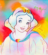 Peter Max - Snow White Painting Original Art (Walt Disney, 1994)