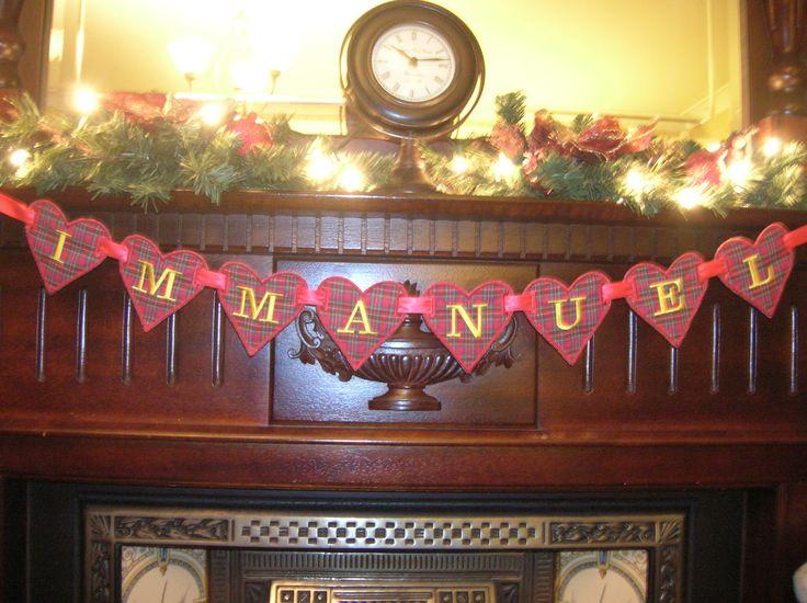 Christmas tartan bunting!