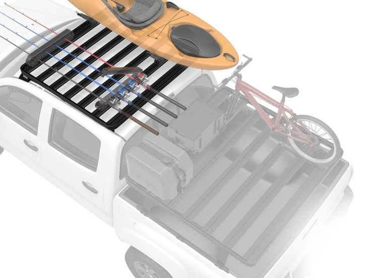 This 1371.6mm (4.5') full size Slimline II rack kit contains the Slimline II tray, wind deflector and Front Runner's custom vehicle specific foot rails to mount the Slimline II tray to your 05+ Tacoma