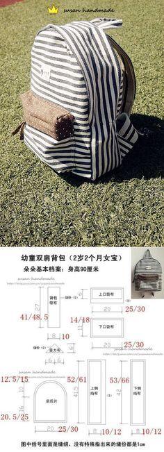 Patrón y la adaptación de la mochila (Bricolaje) / bolsos, embragues, bolsas / segunda calle