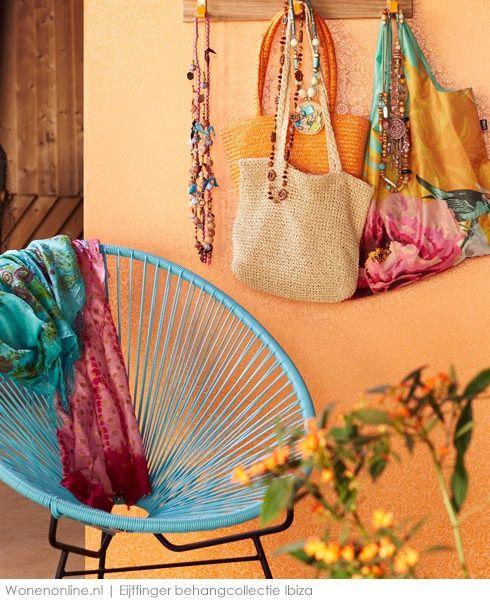 Eijffinger Behang - Collectie Ibiza - art.nr. 330214Haal de zomer in huis met dit behang en cre�er het ultieme vakantiegevoelHet behang is natuurlijk perfect voor een romantisch interieur. Maar ook in een modern, stoer landelijk of boh�mien chic interieur misstaat dit behang niet