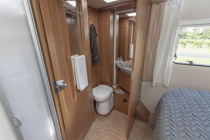 Inside a luxury motorhome: Separate toilet. Feel free to use this image but give credit to http://smartrv.co.nz/motorhomes-for-sale/german