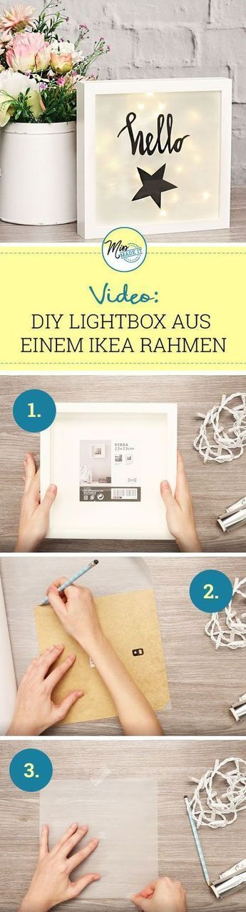 Wir zeigen dir, wie du aus einem IKEA RIBBA Bilderrahmen eine coole Light Box ba… – Anette Fischer