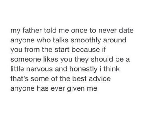 Realest thing I ever seen! No smooth talkers, your asking for trouble!