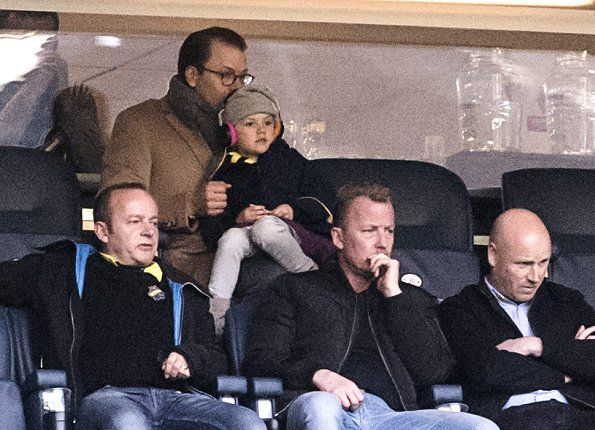 On Sunday, April 2, 2017, Princess Estelle and her father Prince Daniel watched a football match at Sweedbank Arena in Stockholm. Prince Daniel's favourite team, AIK met BK Häcken, and the match ended 0-0. It was the first match of the season.