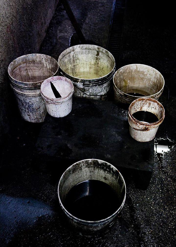 Yvonne Koné in the making, Italian tannery. Photo: Line Klein