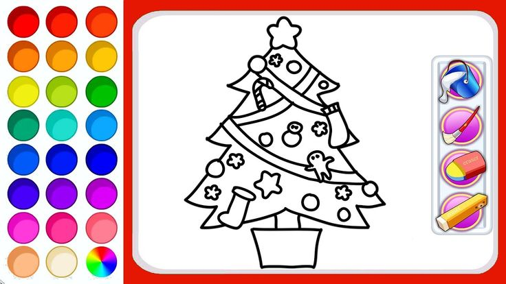 Christmas Tree Coloring Pages For Children