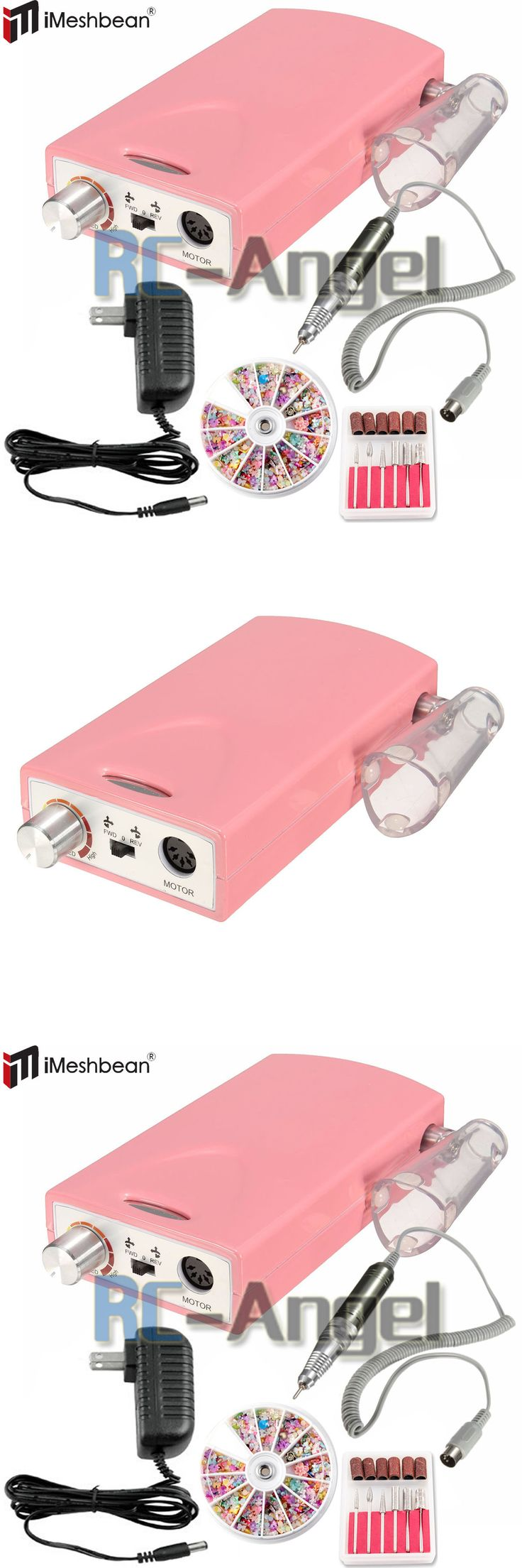 Electric Files and Tools: Portable Electric Nail Drill Rechargeable Cordless Manicure Pedicure Machine Set BUY IT NOW ONLY: $63.64