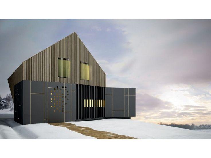 Pure AA - #Doppelhaus von BlackLine | HausXXL #Fertighaus #Energiesparhaus #Nullenergiehaus #modern #Satteldach