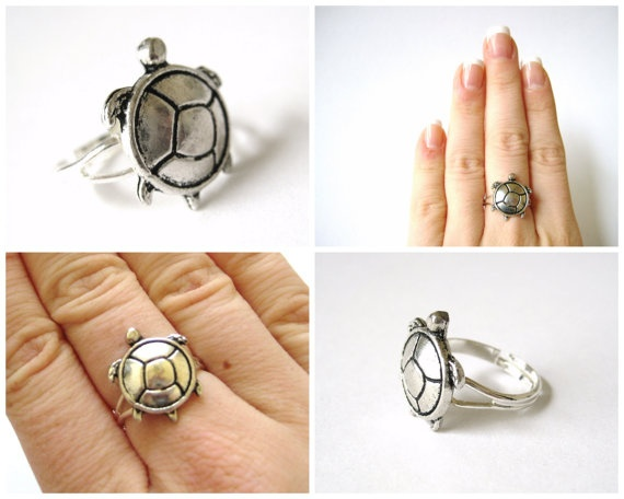 cute turtle ring