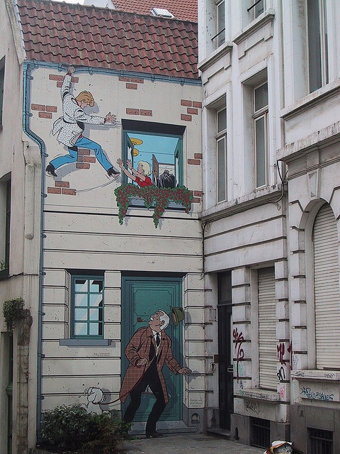 """Comic in Brussels """"Such an excellent visual culture in Brussels."""" KB"""