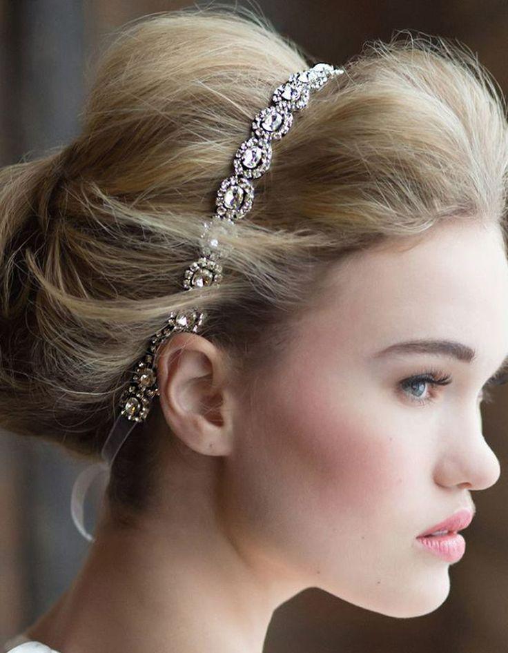 Chignon mariée headband   Peinados de novia