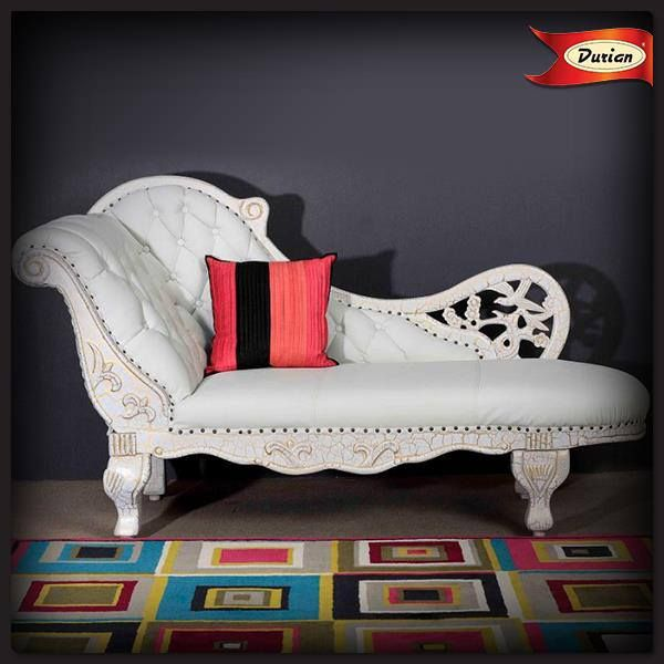 A monochromatic piece of #furniture goes best with a pop of vibrant #accessories like neon #cushions and geometric #carpets.
