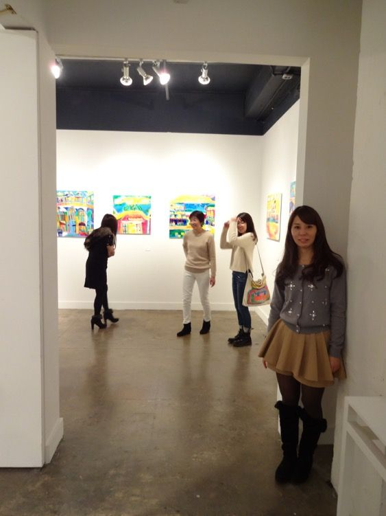 Taisuke's sister, at Hpgrp gallery