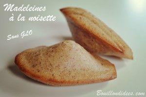 Madeleines à la noisette sans GLO (sans gluten, lait, oeuf)