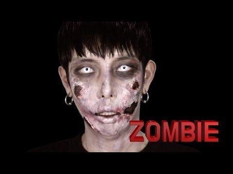 [Seoulite] Zombie sfx halloween makeup 좀비 할로윈 특수 분장 메이크업 - YouTube