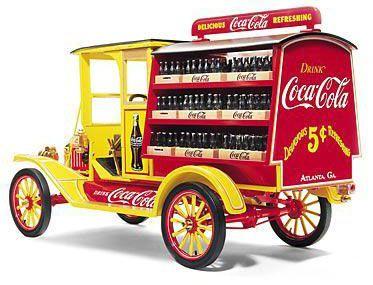 red coca cola trucks   The 1913 Coca-Cola Ford Model T Delivery Truck