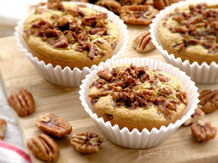 These gluten and grain free Maple Pecan Muffins are perfect for a fast breakfast or an afternoon snack. They are light, fluffy and delicious!