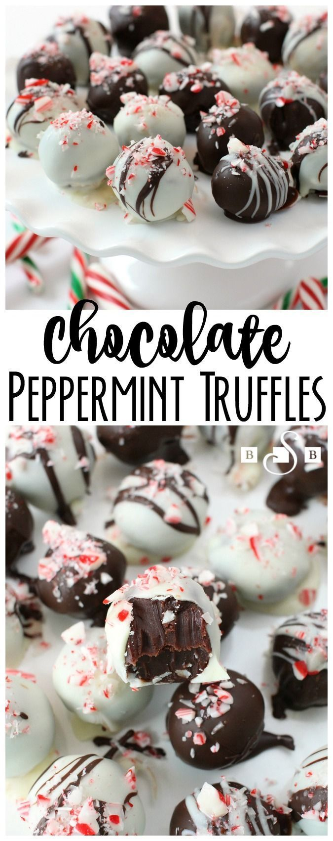 Chocolate Peppermint Truffles - Chocolate and peppermint is the perfect winter combination #winter #chocolate #peppermint