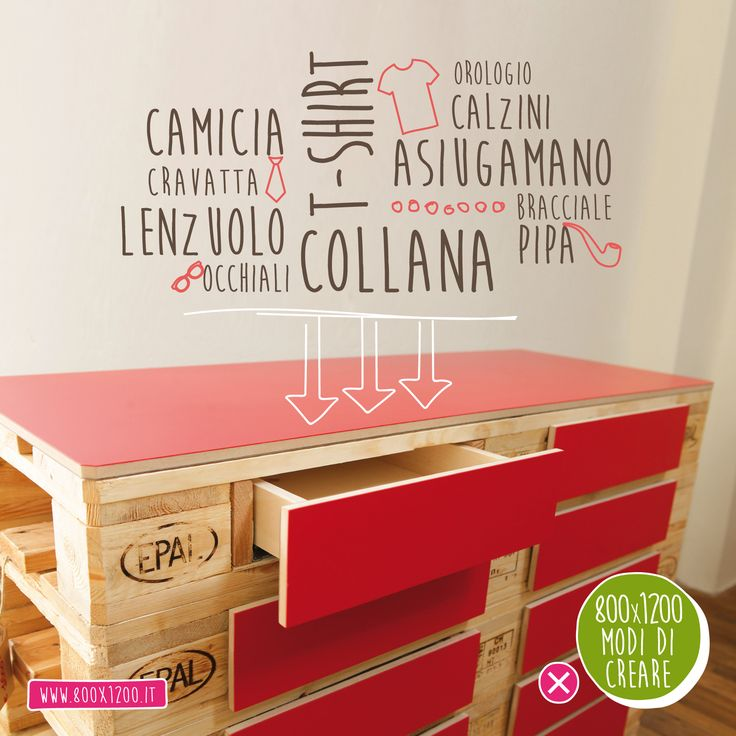 Cassettiera 800x1200 #ecodesign #arredo #forniture #ecofriendly #pallet