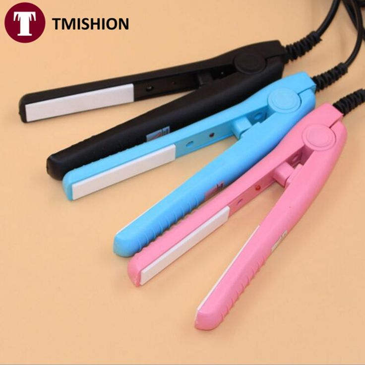 US Plug 3colors Mini Electrical Hair Straightener Profesional Comb Styling Tools Straightening Irons