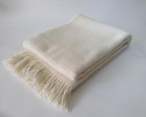 Klippan Lambs Wool Blanket - Ralph Ivory * * 100% NZ WOOL * *