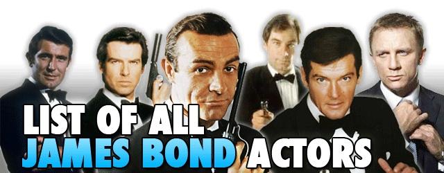 List Of All James Bond Actors