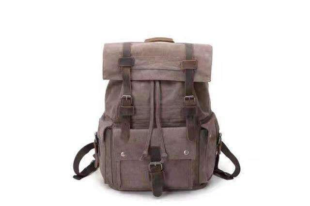 Military Backpack Men's Leisure Canvas Bag Backpack Youth School Bags Male Laptop Bag Vintage Large Capacity Travel Backpack Bag
