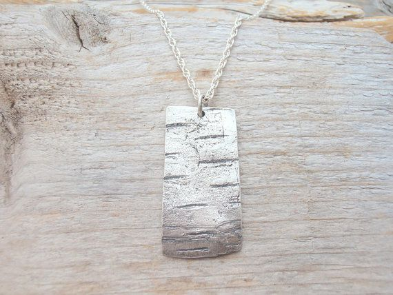 Big and beautiful birch bark necklace by twigsandheather on Etsy, $125.00