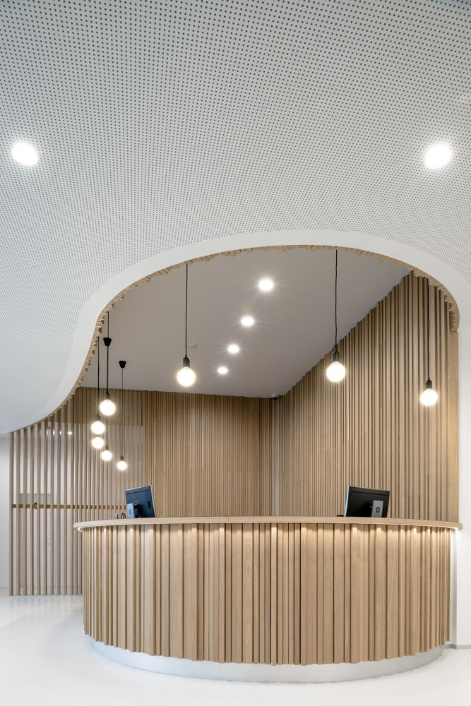 Best 25+ Curved reception desk ideas on Pinterest ...