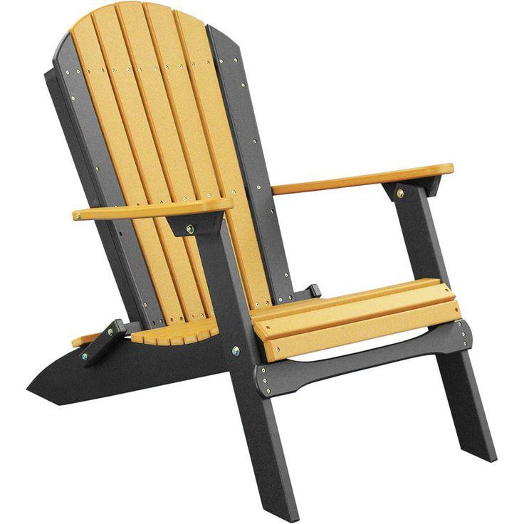 Luxcraft recycled plastic folding adirondack chair - Chaise adirondack plastique recycle costco ...