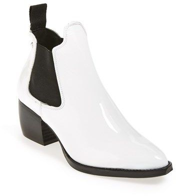 Topshop 'Margot' Leather Ankle Bootie (Women) on shopstyle.com