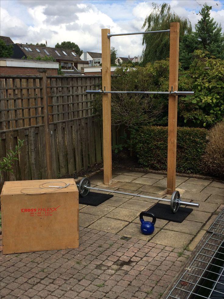 Pull up & squat diy crossfit rig outdoor