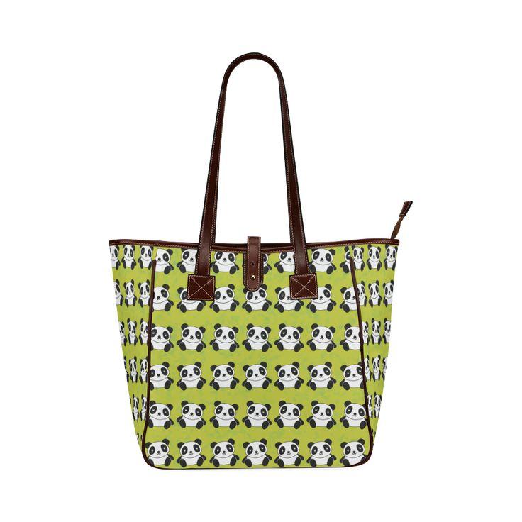 Panda Pattern Classic Tote Bag (Model 1644)