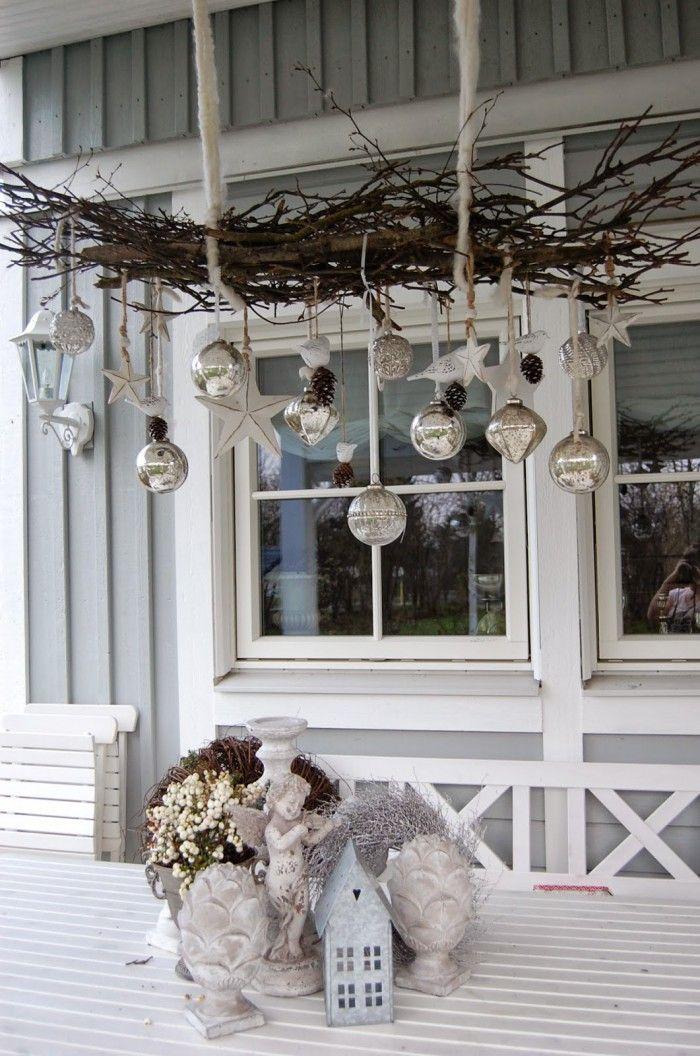 Äste weihnachtlich dekorieren…