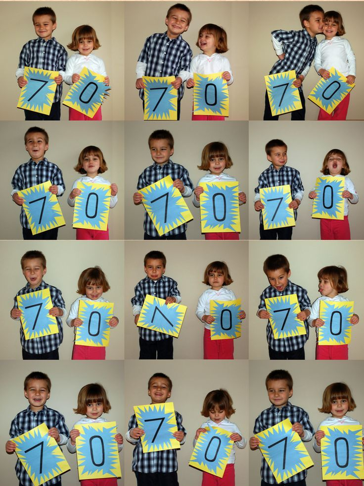 Milestone birthday card idea - make numbers for each child/person to hold - super easy and 'birthday girl/guy' will love it!