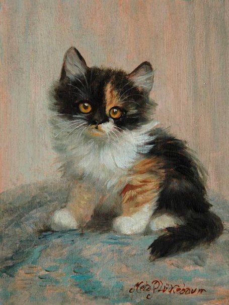 Cat paintings ~ Meta Plückebaum