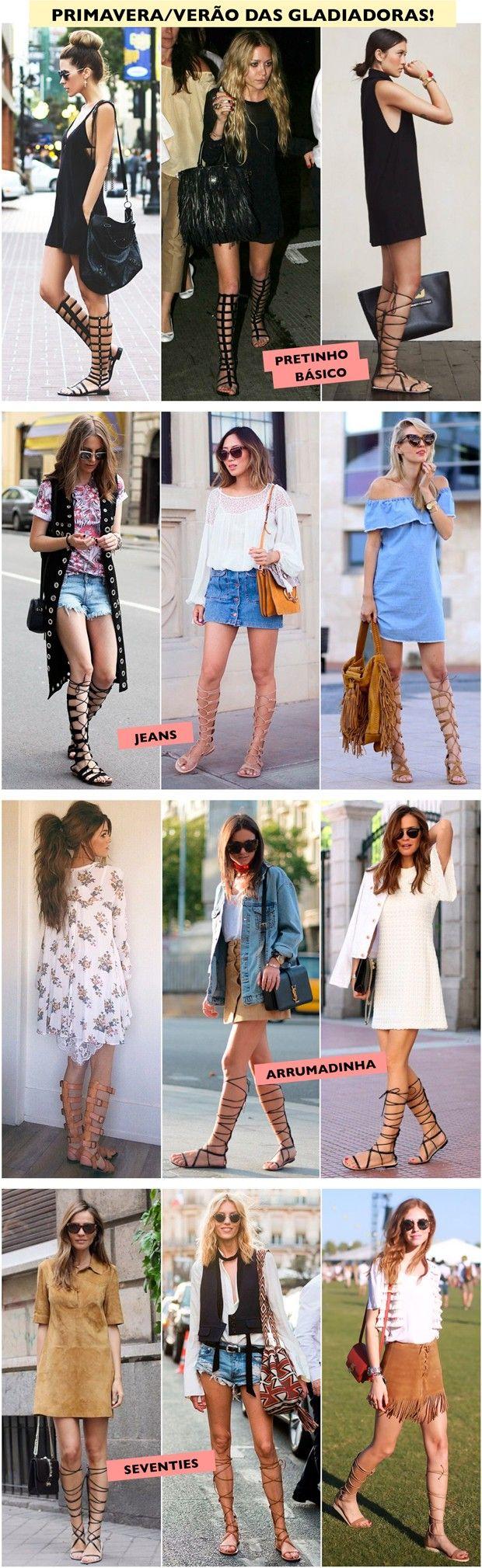 Atualizando o look com sandália gladiadora - Fashionismo