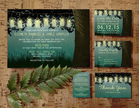 rustic garden lights wedding invitation by on etsy place card number