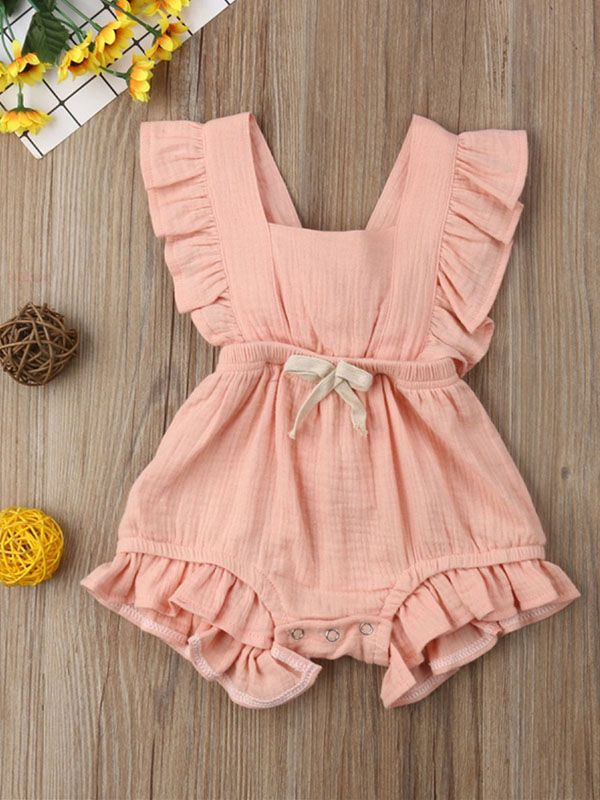 Daily Deals For Moms Patpat Baby Girl Ruffle Romper Girls Rompers Cute Baby Clothes