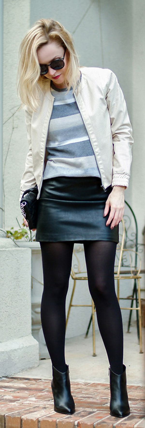 leather skirt for office