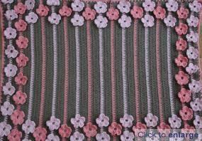 Orla, beautiful crochet flower child/baby blanket