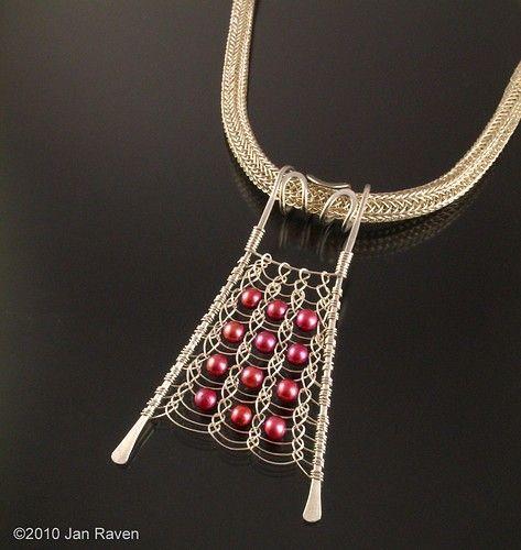 viking knit pendant - flat! jewelrylessons.com picture on VisualizeUs