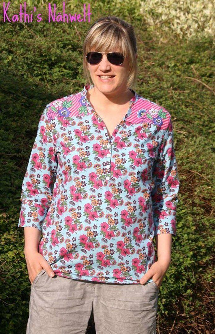 Lillesol /& Pelle Schnittmuster women No6 Blusenshirt Webware Papierschnittmuster