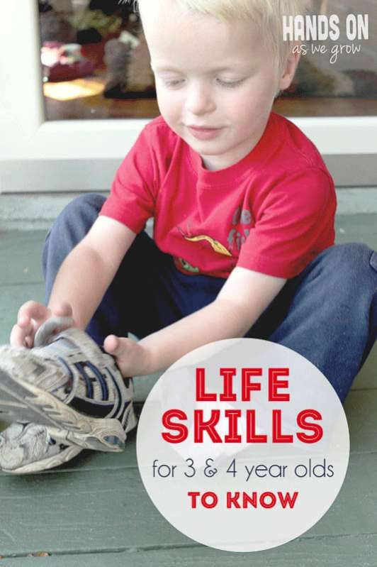 life skills for 3 and 4 year olds to know