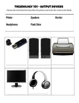 Output Device Worksheet for SGO